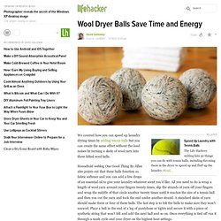 Wool Dryer Balls Save Time and Energy