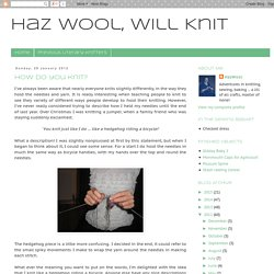 Haz Wool, Will Knit: January 2012