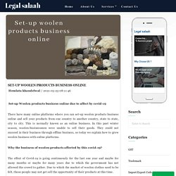 Set-up woolen products business online