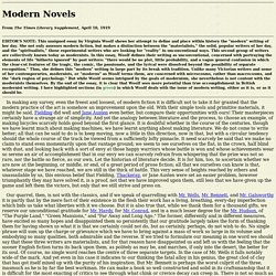 "Woolf's ""Modern Novels"""