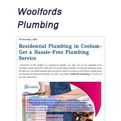 Woolfords Plumbing: Residential Plumbing in Coolum- Get a Hassle-Free Plumbing Service
