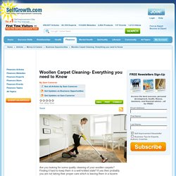 Woollen Carpet Cleaning- Everything you need to Know