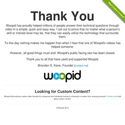 Woopid Video Tutorials