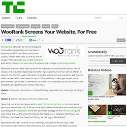 WooRank Screens Your Website, For Free
