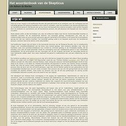 Het Woordenboek van de Skepticus - vrije wil