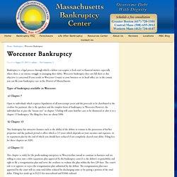 Worcester Bankruptcy