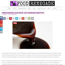 Worcestershire Sauce Recipe: Easy Homemade Substitute