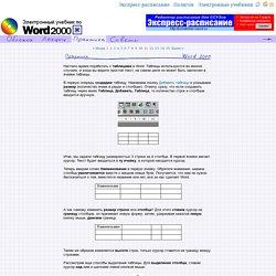 Электронный учебник по Word 2000 - Создание таблиц, выделение ячеек