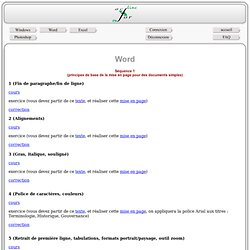 Cours Word - Mise en page simple