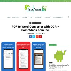 PDF to Word Converter with OCR – Cometdocs.com Inc.