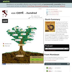 Word Root Of The Day: cent
