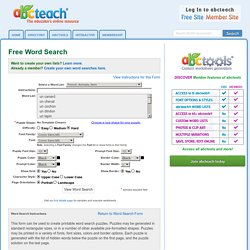 Word Search Generator - Make Your Own with abctools