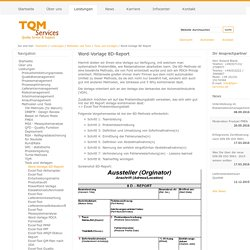 Word-Vorlage 8D-Report — TQM Services GmbH