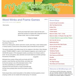 Word Winks and Frame Games
