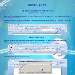 Word2007 : chercher et remplacer
