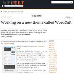 WordCult 0.2b A WordPress Theme by WPCult | WPCult