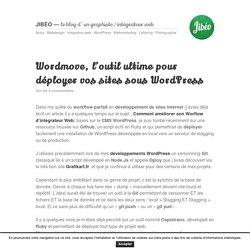 Wordmove, l'outil ultime pour déployer vos sites Wordpress