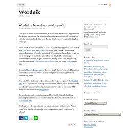 Wordnik is becoming a not-for-profit!