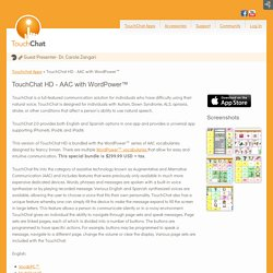 TouchChat HD - AAC with WordPower™ - TouchChat - Communication Apps for iPad, iPhone, and iPod Touch