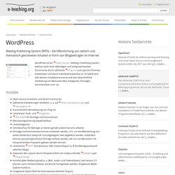 WordPress (e-teaching.org)