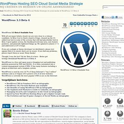 WordPress 3.3 Beta 4