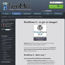 Wordpress 3 : le guide