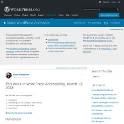 Make WordPress Accessible – Equal Access For All
