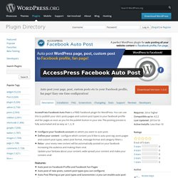 AccessPress Facebook Auto Post
