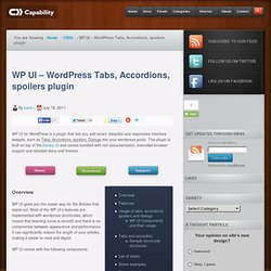 WP UI - WordPress tabs, accordions, spoilers and sliders plugin