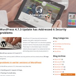 WordPress 4.7.3 Update has Addressed 6 Security problems