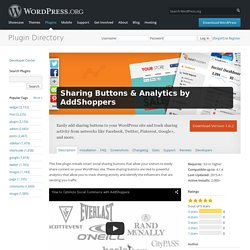 Sharing Buttons & Analytics by AddShoppers