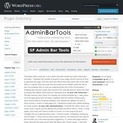 SF Admin Bar Tools