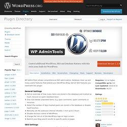 WP AdminTools