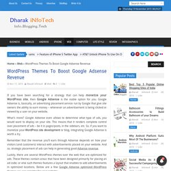 WordPress Themes To Boost Google Adsense Revenue