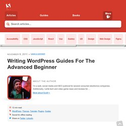 Writing WordPress Guides For The Advanced Beginner - Smashing WordPress