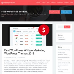 Best WordPress Affiliate Marketing WordPress Themes 2016