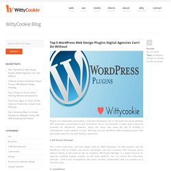 Top 5 WordPress Web Design Plugins Digital Agencies Can't Do Without - WittyCookie
