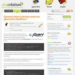 Last version de jQuery dans WordPress ?