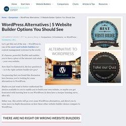 5 Website Builders You Should See