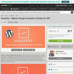 Analytify - Makes Google Analytics Simple for WP