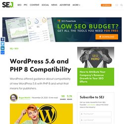 WordPress 5.6 and PHP 8 Compatibility