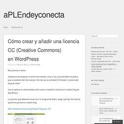 Cómo crear y añadir una licencia CC (Creative Commons) en WordPress