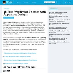 45 Free WordPress Themes with Appealing Designs