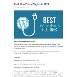 Best WordPress Plugins in 2020 - Appkineticsllc