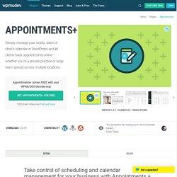 WordPress Appointments + Plugin