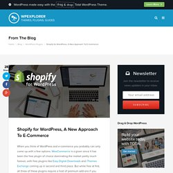 Shopify for WordPress, A New Approach To E-Commerce