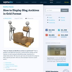 WordPress Archive Grid