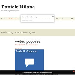 Wordpress + Jquery Archives - Daniele Milana