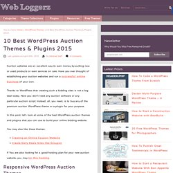 10 Best WordPress Auction Themes & Plugins 2015