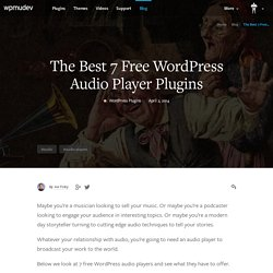 The Best 7 Free WordPress Audio Player Plugins